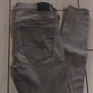 American Eagle grey jeans size 2